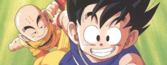 Krilin y Goku en