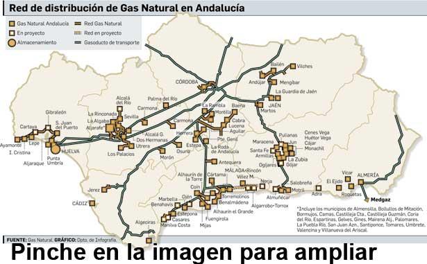 La red de gas natural andaluc a supera en 2014 los for Gas natural malaga