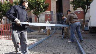 Montaje de la rampa en El Salvador