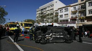 Espectacular accidente en la avenida