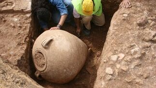 Yacimiento romano en el Parque Alcosa
