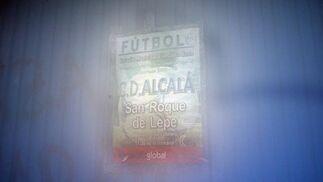 Acceso cerrado al estadio del Alcalá tras suspenderse su encuentro de liga por la lluvia.  Foto: Juan Carlos Muñoz