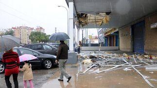 Desperfectos ocasionados por el viento en la Carretera Amarilla.  Foto: Juan Carlos Vázquez