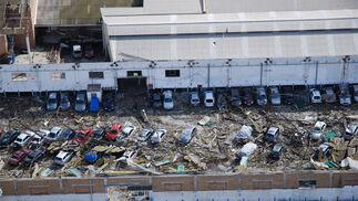 Los restos del tornado visto desde el aire