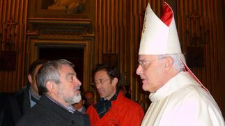 Visita de la comisión pro monumento a Juan Pablo II a Roma