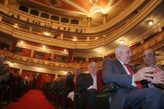 Vista del teatro antes de empezar el acto.  Foto: Belen Vargas