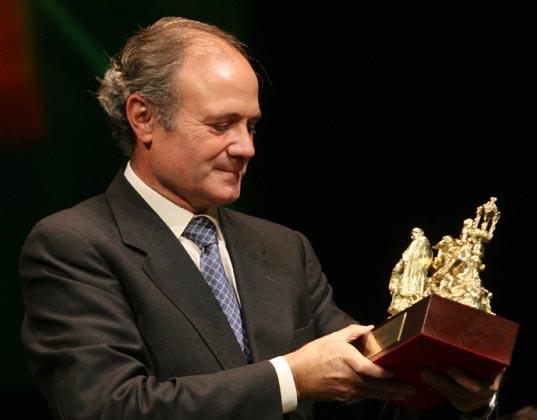 El homenajeado, Manuel Román.  Foto: Belen Vargas