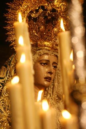 Detalle de María Santísima de la Concepción.  Foto: Belén Vargas