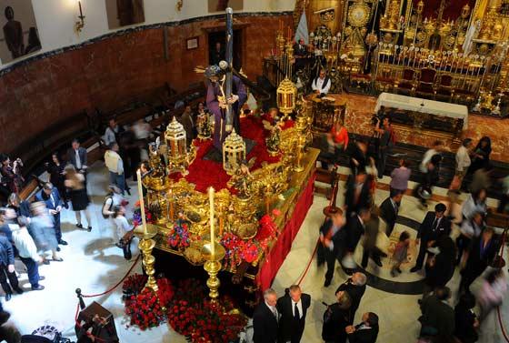 Vista desde arriba del paso del Gran Poder.  Foto: Juan Carlos Vázquez
