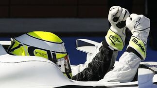 Button celebra su victoria.  Foto: AFP Photo / Reuters / EFE
