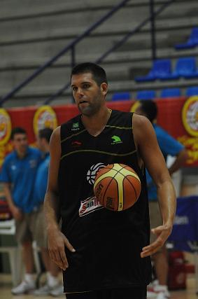 Felipe Reyes, durante el entrenamiento.   Foto: Javier Gonzalez