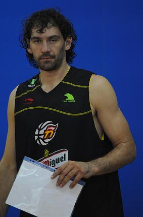 El jugador del Khimki ruso, Jorge Garbajosa.   Foto: Javier Gonzalez