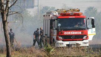 El coche de bomberos.  Foto: B. Vargas