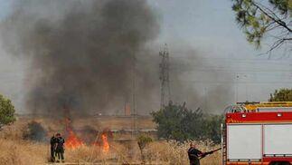 El humo se dejaba ver desde distintos puntos de la ciudad.  Foto: B. Vargas