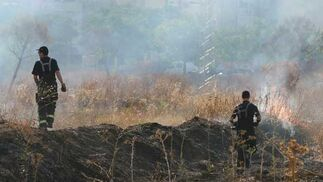 Una gran humareda provocada por el incendio.  Foto: B. Vargas