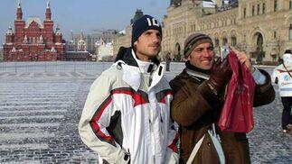 Con Aitor Ocio en el Kremlin