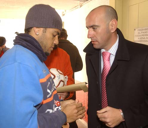 Con Daniel Alves