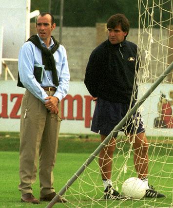 con Marcos Alonso, en otoño de 1999.