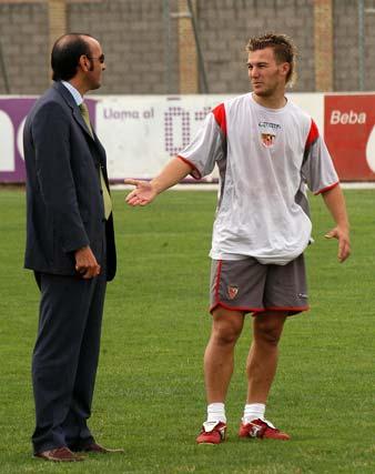 Monchi, con Antoñito.