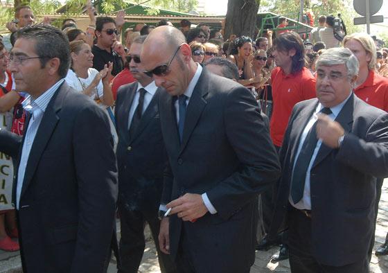 Monchi, en el entierro de Antonio Puerta