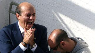 Del Nido y Monchi ríen en la ciudada deportiva