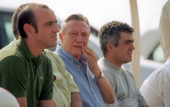 Con Roberto Alés en la ciudad deportiva.