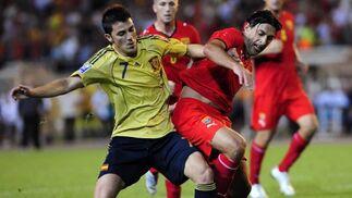 Las imágenes del partido amistoso entre Macedonia y España. EFE / Reuters