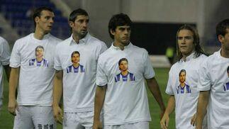 Capel, Perotti, Dragutinovic y Squillaci, antes del comienzo.  Foto: Kiki