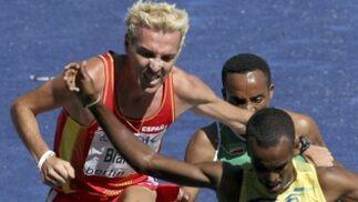 El corredor español José Luis Blanco durante la primera ronda de los 3.000 metros obstáculos.  Foto: EFE