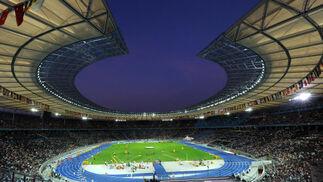 Vista general del Estadio Olímpico donde se celebran las pruebas de los Mundiales de Atletismo que se disputan en Berlín.  Foto: EFE