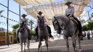 Los paseos a caballos eran una de las diversiones más reclamadas en el Cortijo de Torres. FOTO: Migue Fernández