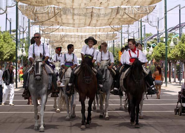 Los caballos fueron protagonistas indiscutibles de la Feria de día en el Real. FOTO: Migue Fernández
