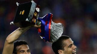 El F.C. Barcelona se proclama campeón de la Supercopa de España tras vencer por 3-0 al Athletic de Bilbao en el partido de vuelta disputado en el Camp Nou de Barcelona.  Foto: Agencias
