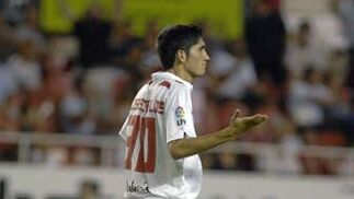 José Carlos hace un gesto de extrañarse de algo sucedido.  Foto: Manuel Gómez