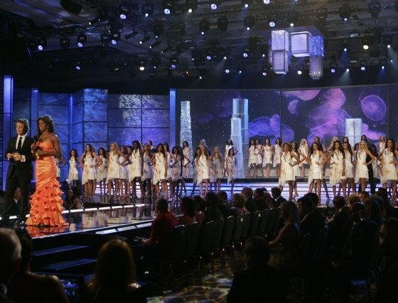 La ceremonia de Miss Universo 2009 ha sido celebrada este domingo en el Hotel Atlantis de Paradise Island (Nassau, Bahamas).  Foto: Efe