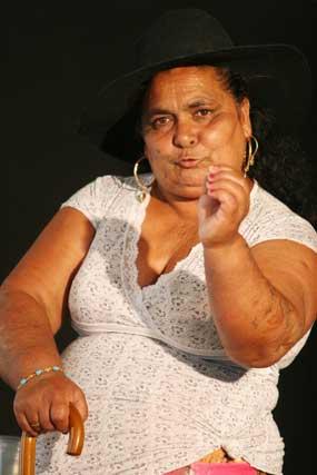 La matriarca de la obra, Rocío Montero Amaya.  Foto: Victoria Hidalgo