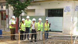 Vista de una de las partes de las obras de peatonalización de Asunción.  Foto: Victoria Hidalgo