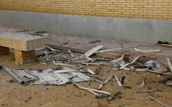 Imagen que muestra lo sucedido tras el incendio.  Foto: Victoria Hidalgo