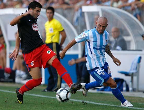 Partido de la Liga 2009 del Mágala C.F - Atlético de Madrid. /EFE