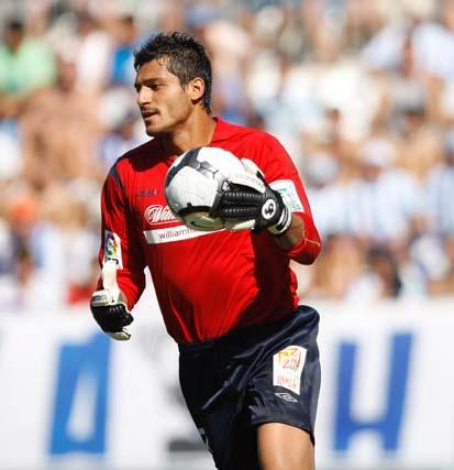 Partido de la Liga 2009 del Mágala C.F - Atlético de Madrid. /Sergio Camacho