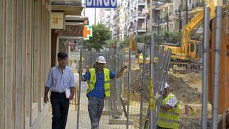 Evolución de las obras de la calle Asunción (agosto)