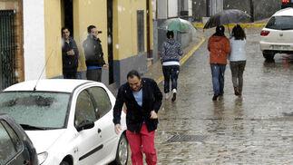 Copos de nieve en la localidad de Sevilla.  Foto: Juan Carlos Muñoz, Manuel Gómez, Antonio Pizarro