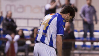 Los jugadores se lamentan tras el gol del Atlético Ciudad.  Foto: LOF