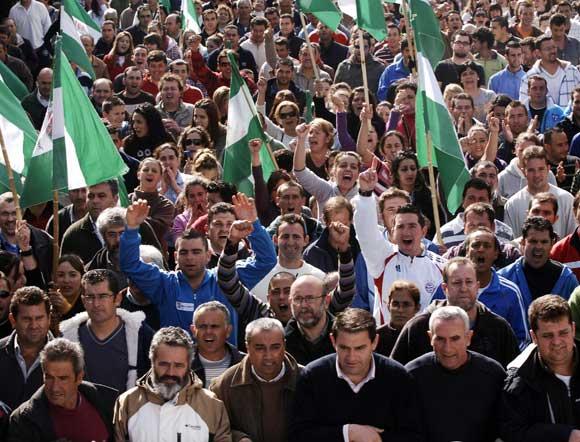 Manifestantes en Arcos  Foto: Aguilar