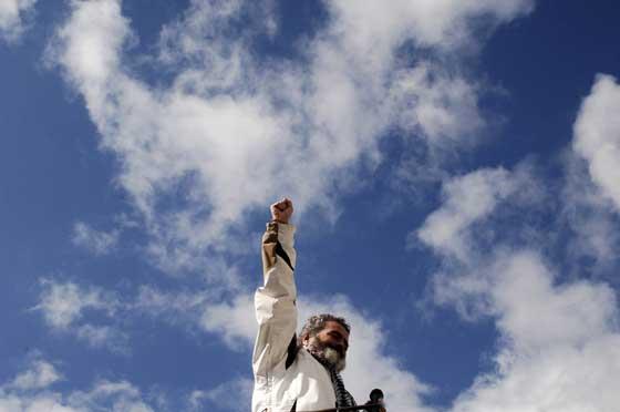 Sánchez Gordillo en su intervención en Arcos  Foto: Aguilar