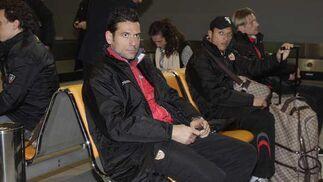 Palop, Adriano y Stankevicius en San Pablo.  Foto: Antonio Pizarro