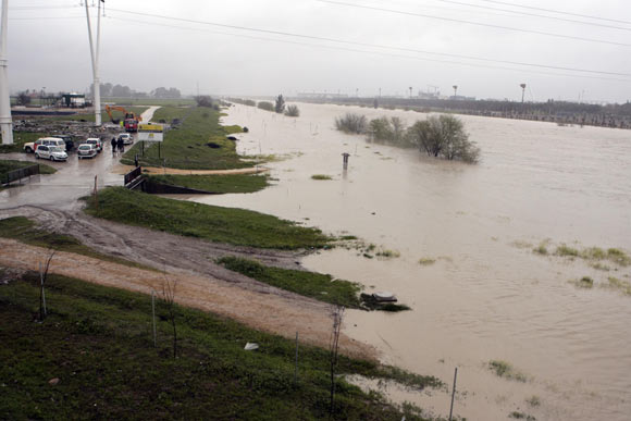 El Charco de la Pava, anegado por las lluvias