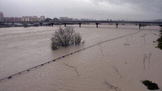 El agua ha invadido los márgenes del río.  Foto: Juan Carlos Muñoz
