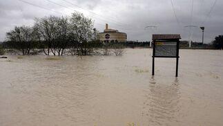 La zona se encuentra totalmente anegada.   Foto: Juan Carlos Muñoz