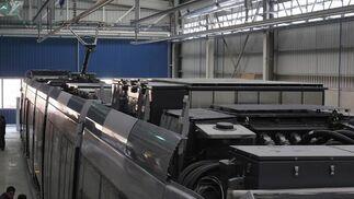 Fábrica de tranvías CAF en Linares (Jaén).  Foto: José Ángel García
